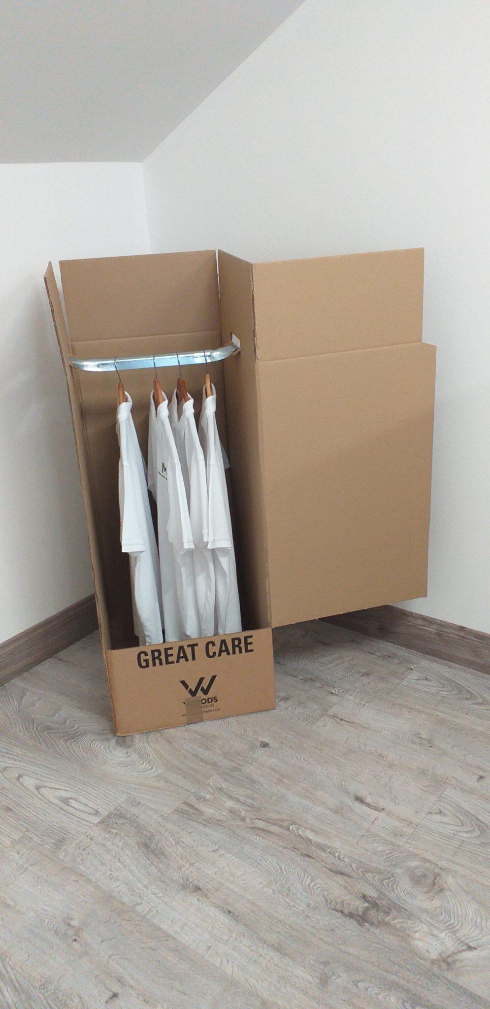 Wardrobe cardboard box