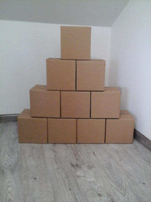 10 medium double walled boxes