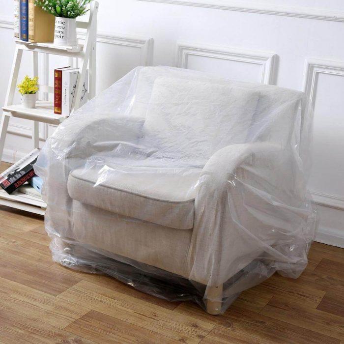 armchair plastic cover
