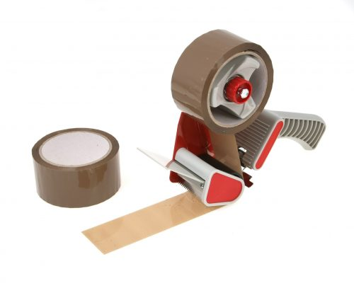 packing Tape dispenser and 2 tapes