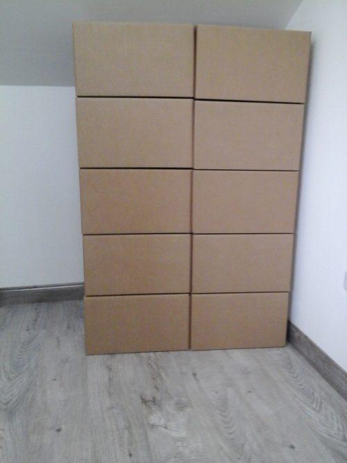 cardboard storage boxes