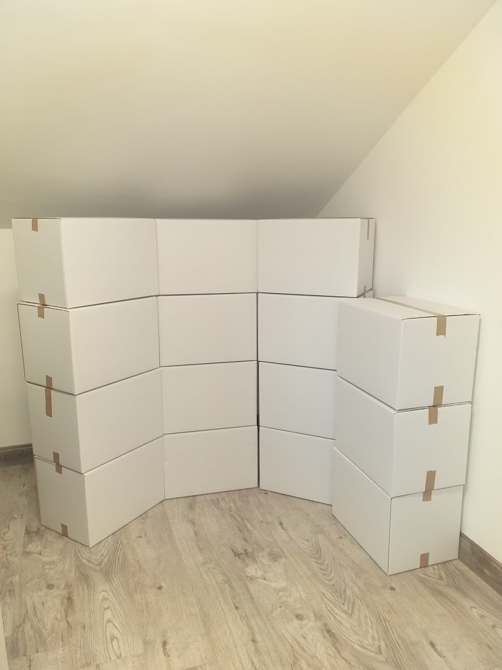 New white moving boxes