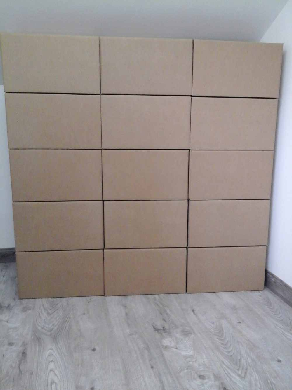 15 large double walled boxes